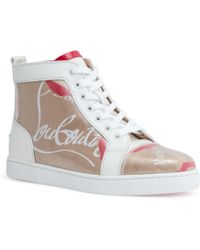 36ec0a446ba5 Christian Louboutin - Louis Kraft Leather And Pvc High Top Trainers - Lyst