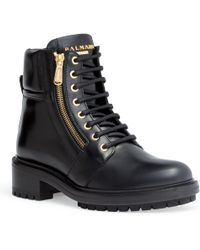 Balmain - Lace-up Ankle Boots - Lyst