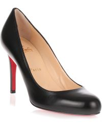 Christian Louboutin - Simple Pump 85 Black Leather Us - Lyst