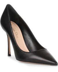 9b40f6986e3 Dior - D Stiletto Black Leather Pump - Lyst