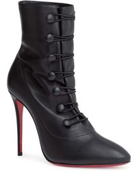 Christian Louboutin - French Tutu 100 Leather Ankle Boots - Lyst