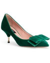 Rochas - Velvet Green 60 Court Shoes - Lyst