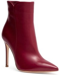 Gianvito Rossi - Levy 105 Burgundy Leather Booties - Lyst