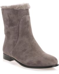 Jimmy Choo - Mission Taupe Grey Shearling Boot - Lyst