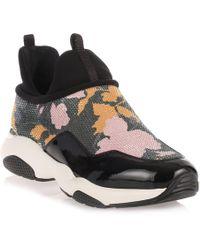 Ferragamo | Giolly Patent Haiti Black Sneaker | Lyst