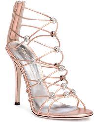 Giuseppe Zanotti - Zig-zag 115 Metallic Leather Sandals - Lyst
