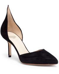 Francesco Russo - Black Suede 75 Court Shoes - Lyst