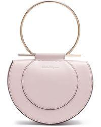 Ferragamo - Daphne Gancino Pale Blush Shoulder Bag - Lyst