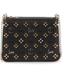 Christian Louboutin - Triloubi Small Black Logo Studded Bag Us - Lyst