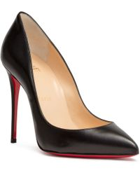 Christian Louboutin - Pigalle Follies 100 Black Leather Pumps - Lyst