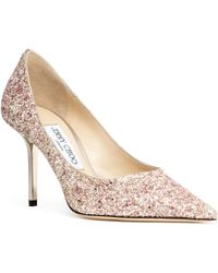 Jimmy Choo - Love 85 Pink Glitter Pumps - Lyst