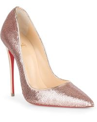 599c6f11d19c Christian Louboutin - So Kate 120 Blush Sequin Court Shoes - Lyst