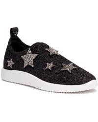 Giuseppe Zanotti - Alena Star Black Glitter Sneakers - Lyst
