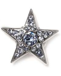 Jimmy Choo - Starry L Blue Crystal Jewelled Button Us - Lyst