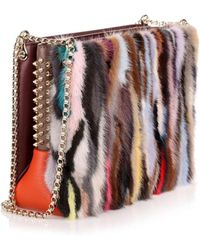 Christian Louboutin - Triloubi Large Multi Coloured Fur Bag Us - Lyst