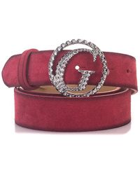 Guess - Suede Belt - Lyst