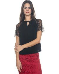 Guess - Blouse With Short Sleeves - Lyst