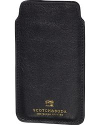 Scotch & Soda - Leather Iphone 6 Sleeve - Lyst