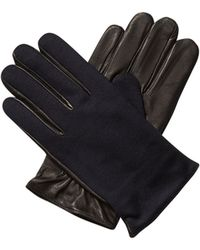 Scotch & Soda - Leather & Wool Gloves - Lyst