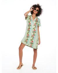 Scotch & Soda - Printed Shirt Dress The Pool Side - Lyst