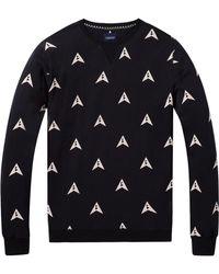 Scotch & Soda - Printed Pattern Sweatshirt - Lyst