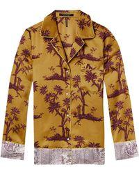 Scotch & Soda - Contrast Print Pyjama Shirt - Lyst