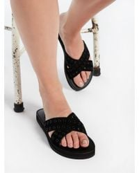 Scotch & Soda - Suede Wrap Sandals - Lyst