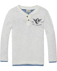 Scotch & Soda - 2-in-1-t-shirt Im Granddad-stil - Lyst