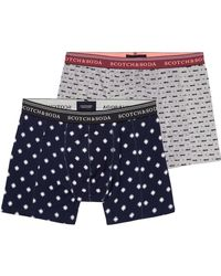 Scotch & Soda - Classic Boxer Short With Seasonal All-over Prints Pack Of 2 - Lyst