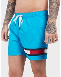 e9538ec8a57fe0 Tommy Hilfiger Flag Swim Shorts in White for Men - Lyst