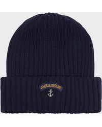 Paul & Shark - Ribbed Knit Hat - Lyst
