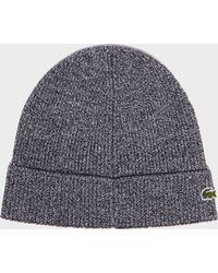 Lacoste - Ribbed Turn Hat - Lyst