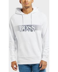 BOSS - Panel Logo Overhead Hoodie - Lyst