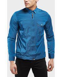 Pretty Green - Kaiser Long Sleeve Zip Overshirt - Lyst