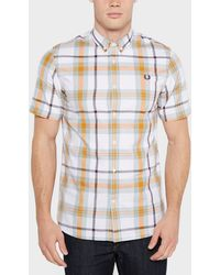 Fred Perry | Bold Check Short Sleeve Shirt | Lyst
