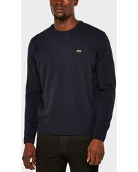 Lacoste - Crew Neck Wool Sweater - Lyst