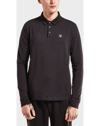 EA7 - Soccer Long Sleeve Polo Shirt - Lyst