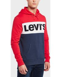 Levi's - Colour Block Overhead Hoodie - Lyst
