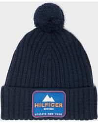 Tommy Hilfiger - Ribbed Badge Beanie - Lyst