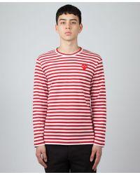 Play Comme des Garçons - Striped Long Sleeve T-shirt - Lyst
