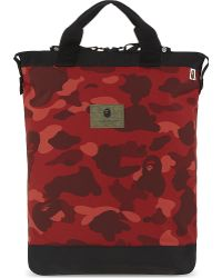 A Bathing Ape - Camouflage Print Two Way Backpack - Lyst