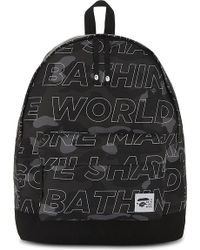 A Bathing Ape - Camouflage Text Backpack - Lyst