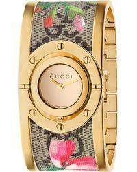 Gucci - Ya112443 Twirl Gold-plated Sterling Silver And Fabric Quartz Watch - Lyst