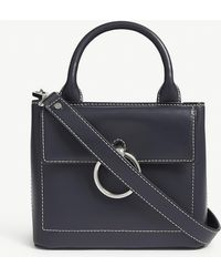 826a60b51 TOPSHOP Leather Whip Stitch Crossbody Bag in Black - Lyst