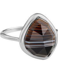 Monica Vinader - Siren Sterling Silver Stacking Ring - Lyst