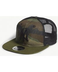 KTZ - New York Yankees Camouflage Mesh Snapback Cap - Lyst