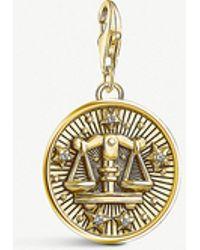 Thomas Sabo - Libra Gold-plated Zodiac Charm - Lyst