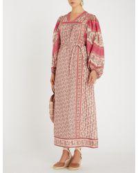 Zimmermann - Juniper Rioting Printed Cotton-voile Maxi Dress - Lyst