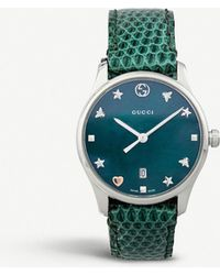 505a09ac8e3 Gucci - Ya126584 G-timeless Mother-of-pearl And Lizard-leather Strap