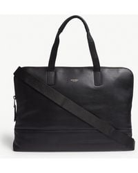 Knomo - Black Mayfair Luxe Leather Briefcase - Lyst